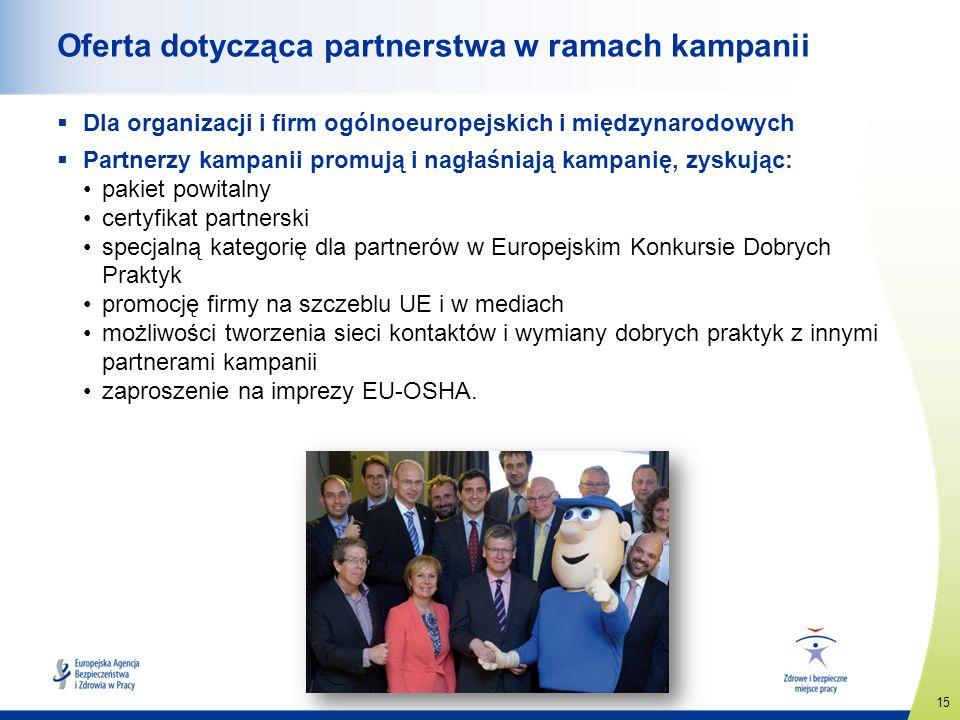 Oferta dotycząca partnerstwa w ramach kampanii