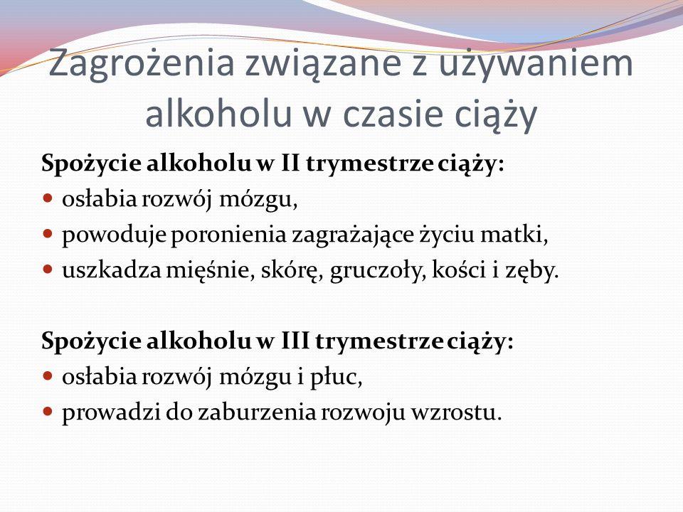 Zagrożenia związane z używaniem alkoholu w czasie ciąży
