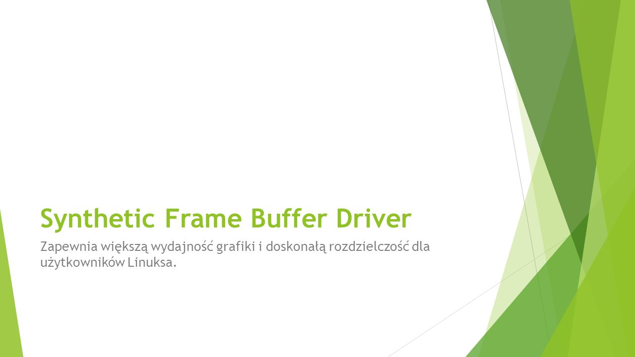 Synthetic Frame Buffer Driver