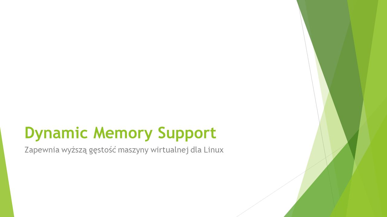 Dynamic Memory Support