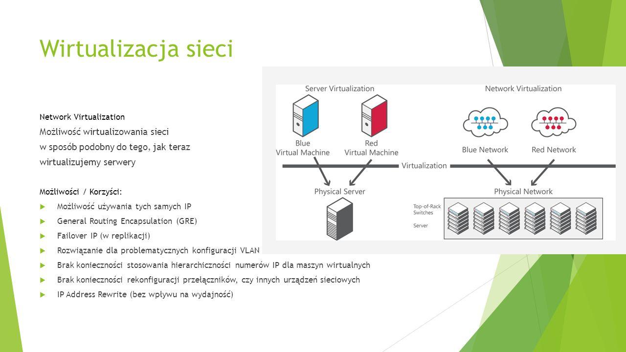 Wirtualizacja sieci Możliwość wirtualizowania sieci