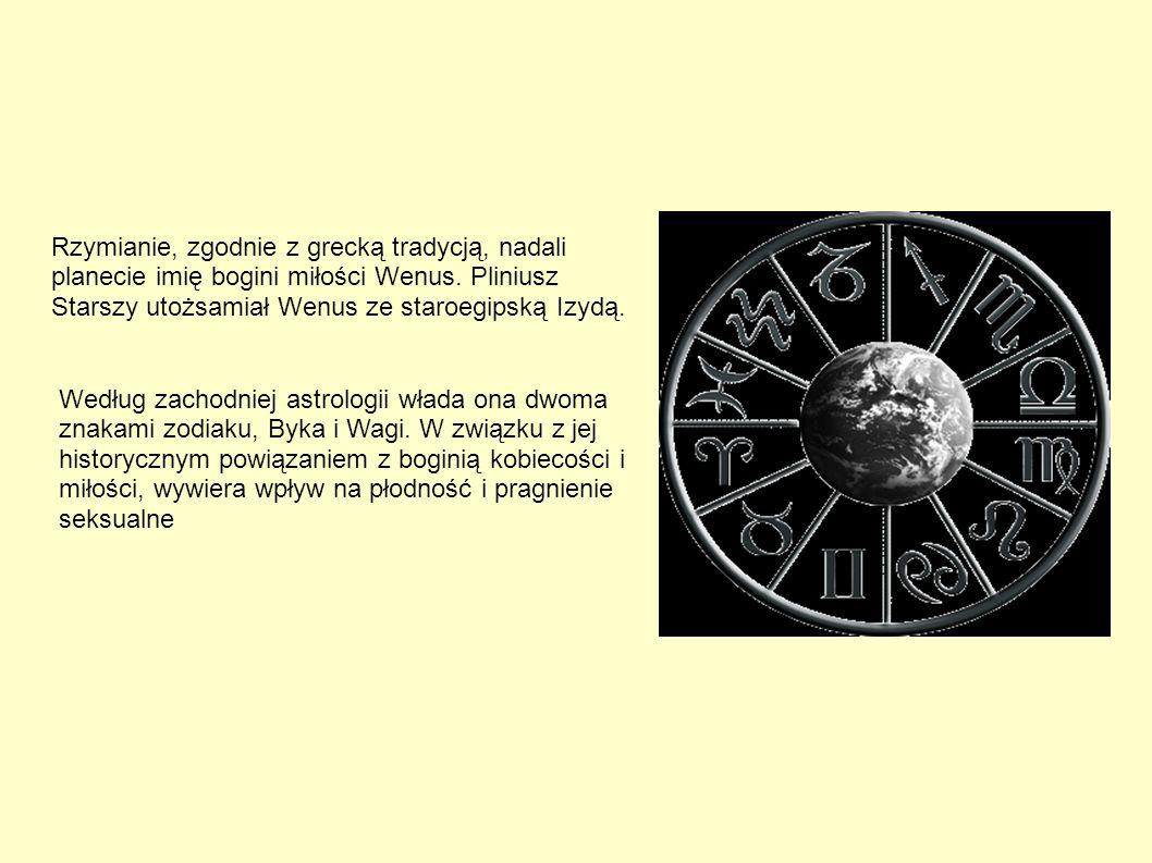 Rzymianie, zgodnie z grecką tradycją, nadali planecie imię bogini miłości Wenus. Pliniusz Starszy utożsamiał Wenus ze staroegipską Izydą.