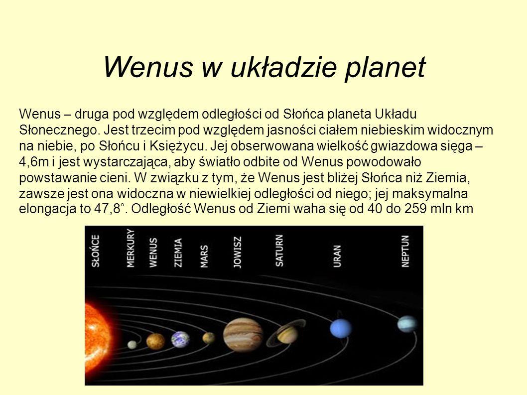 Wenus w układzie planet