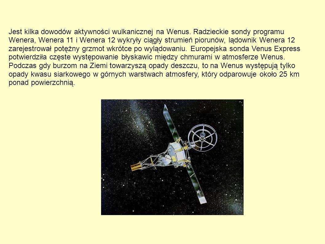 Jest kilka dowodów aktywności wulkanicznej na Wenus