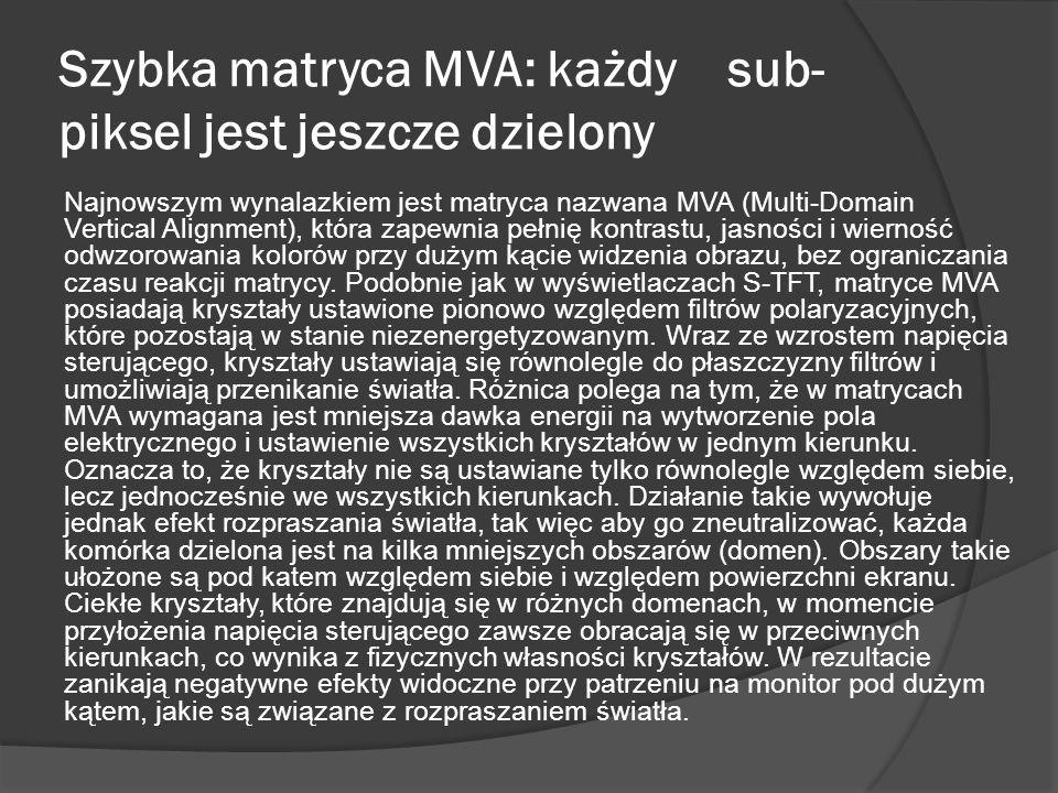 Szybka matryca MVA: każdy sub-piksel jest jeszcze dzielony