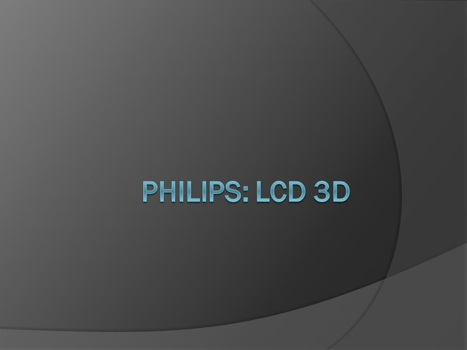 Philips: LCD 3d