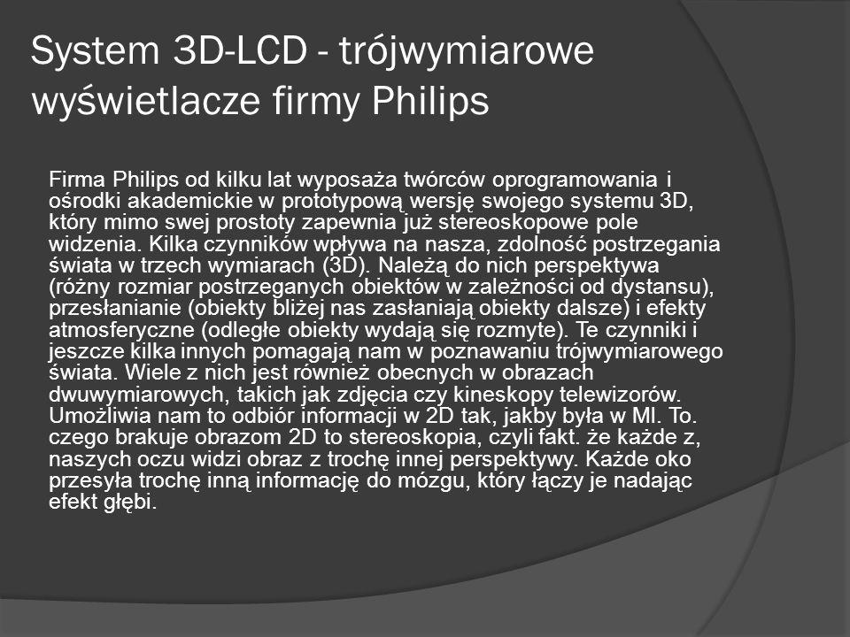 System 3D-LCD - trójwymiarowe wyświetlacze firmy Philips