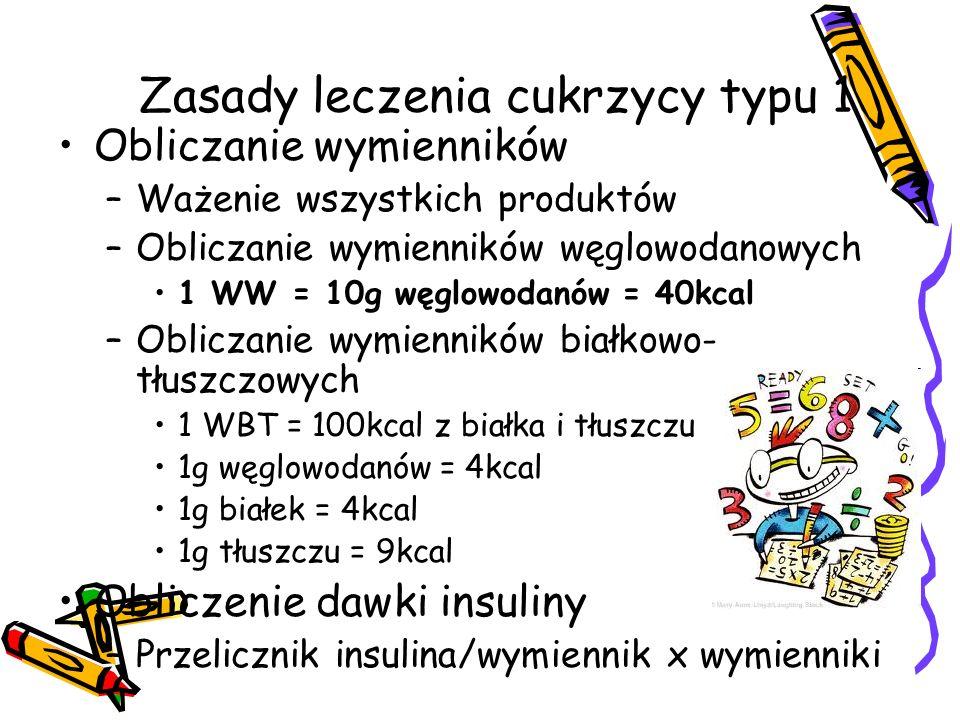 Zasady leczenia cukrzycy typu 1