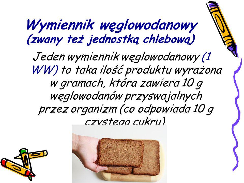 Wymiennik węglowodanowy (zwany też jednostką chlebową)