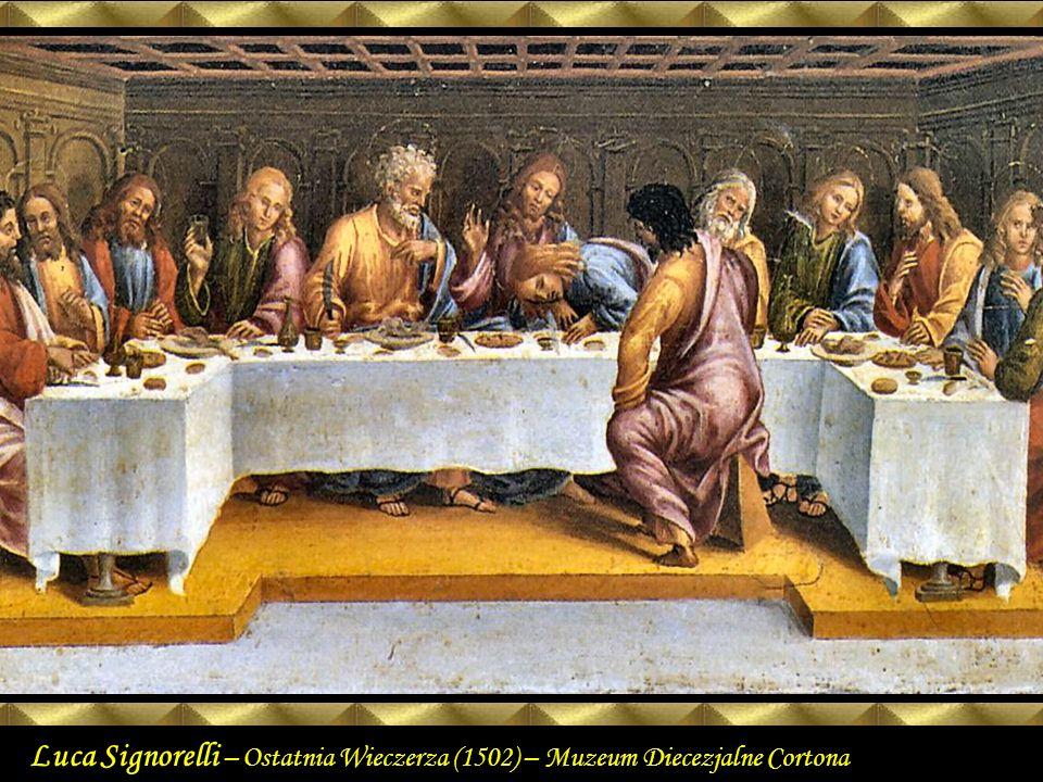 Luca SIGNORELLI The Last Supper 1502 Wood Museo Diocesano, Cortona.