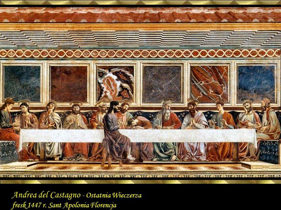Last Supper 1447 Fresco, 453 x 975 cm Sant Apollonia, Florence