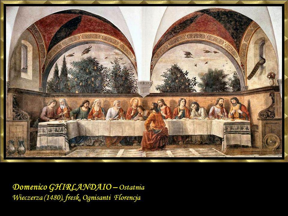 Domenico GHIRLANDAIO Last Supper 1480 Fresco, 400 x 880 cm Ognissanti, Florence