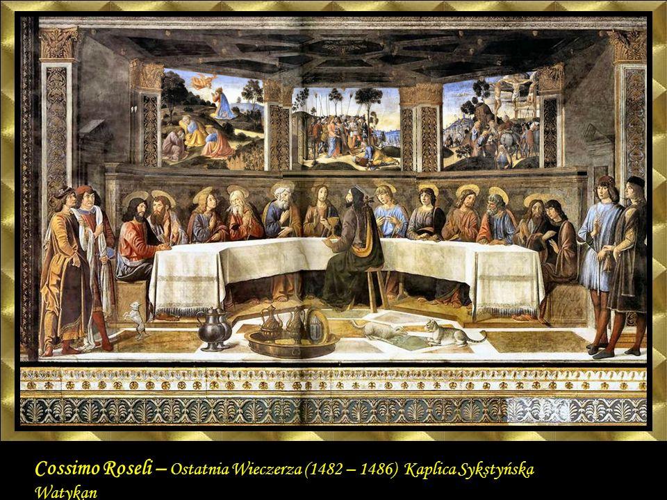 The Last Supper 1481-82 Fresco, 349 x 570 cm Cappella Sistina, Vatican