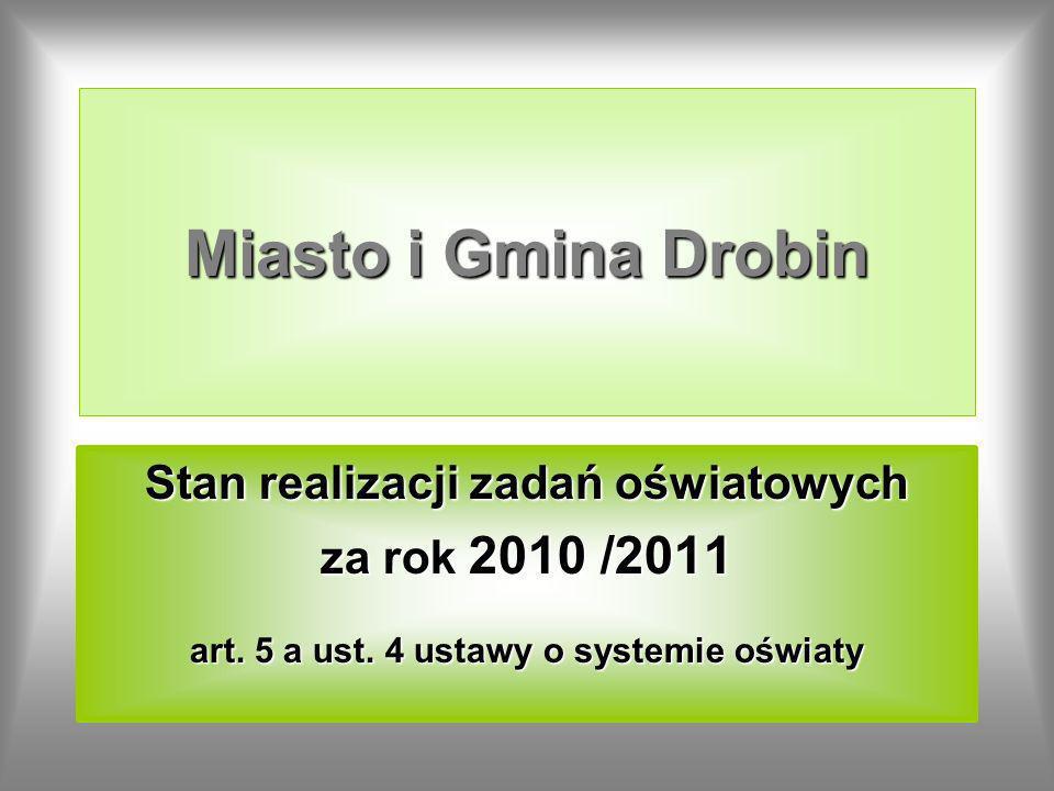 Miasto i Gmina Drobin Stan realizacji zadań oświatowych