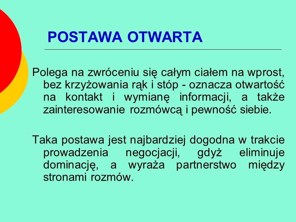 POSTAWA OTWARTA