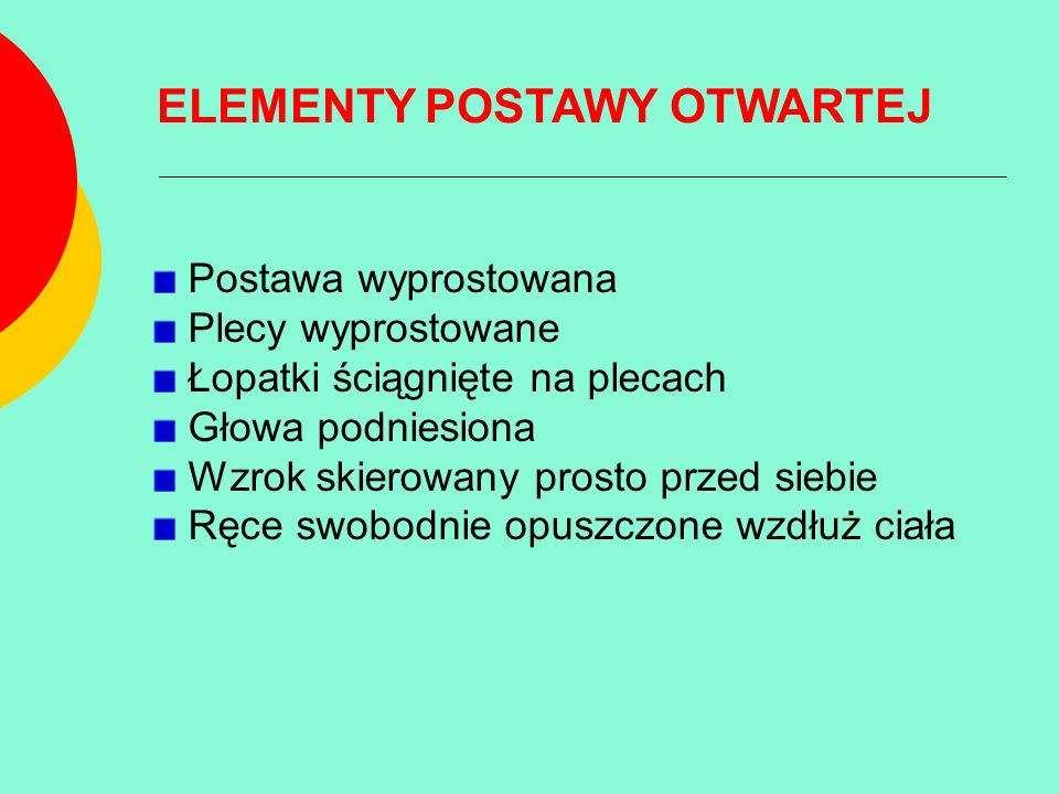 ELEMENTY POSTAWY OTWARTEJ