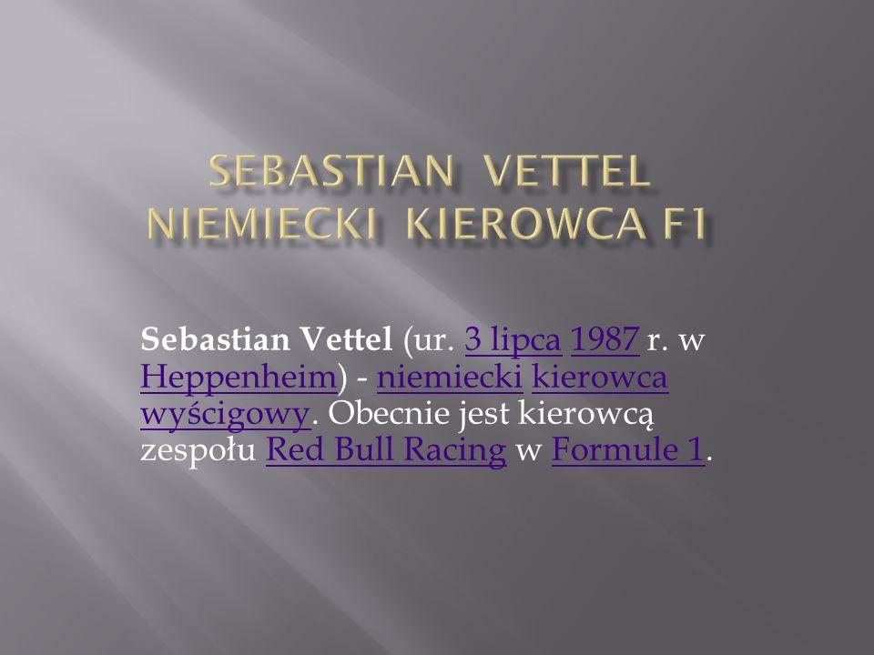 Sebastian Vettel Niemiecki kierowca F1