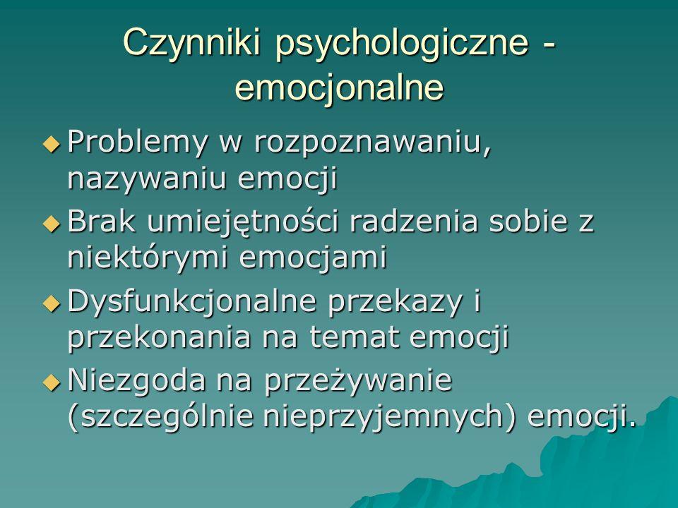 Czynniki psychologiczne -emocjonalne