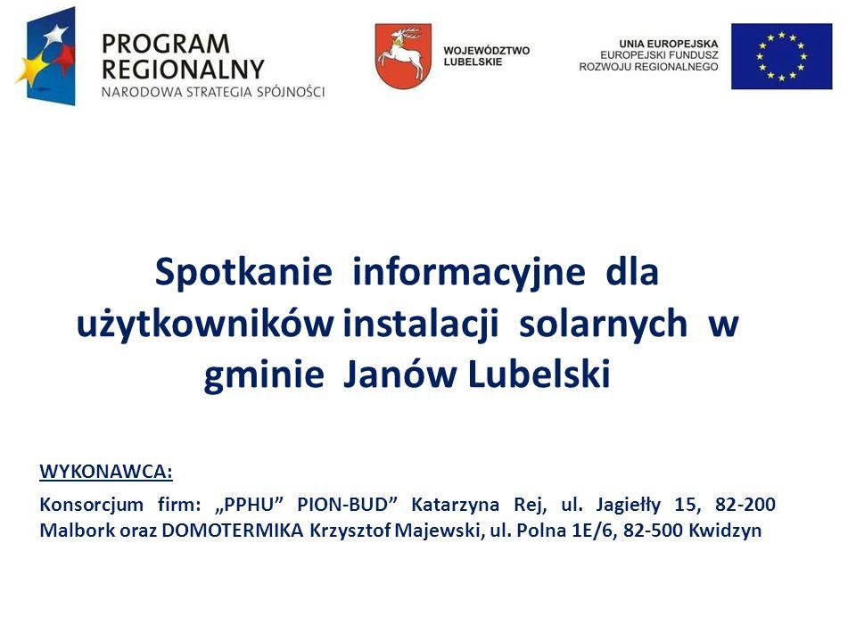 Spotkanie informacyjne dla użytkowników instalacji solarnych w gminie Janów Lubelski