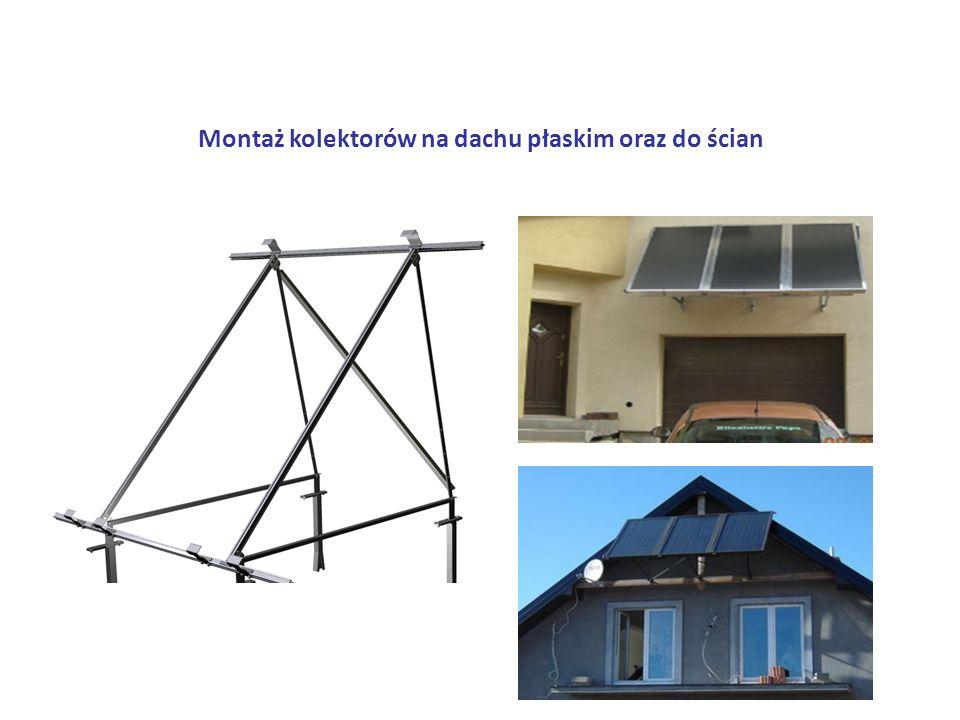 Montaż kolektorów na dachu płaskim oraz do ścian