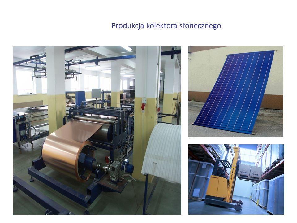 Produkcja kolektora słonecznego
