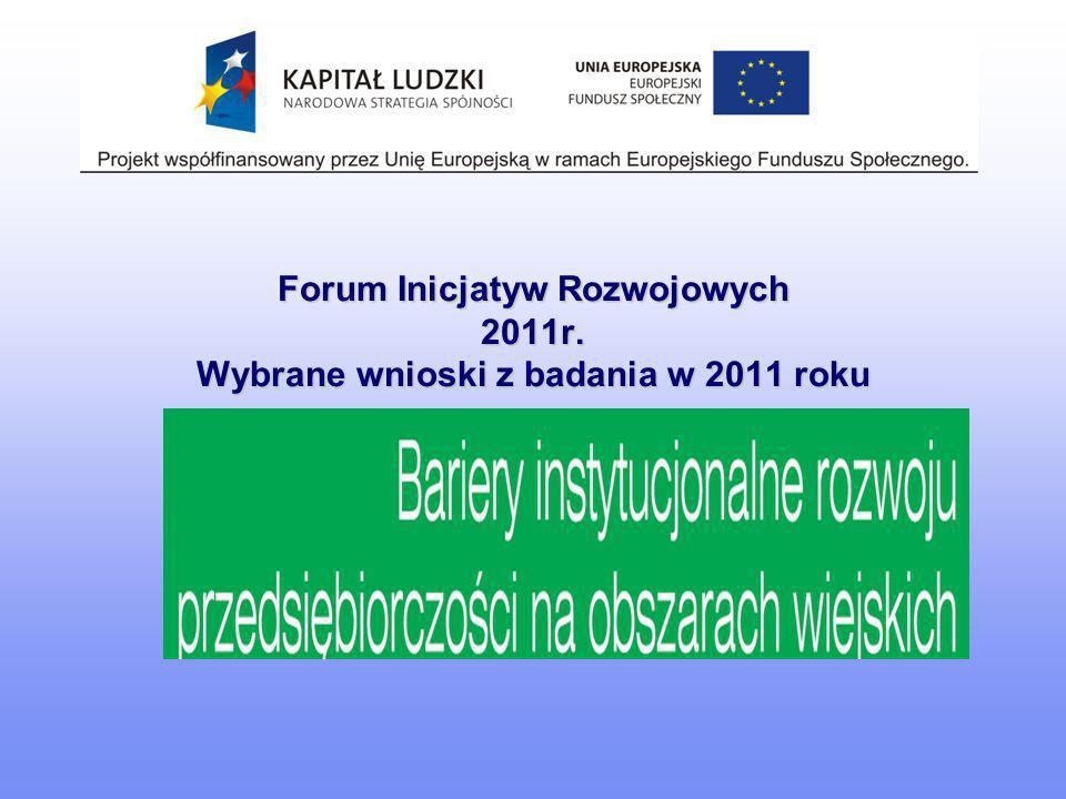 Forum Inicjatyw Rozwojowych 2011r