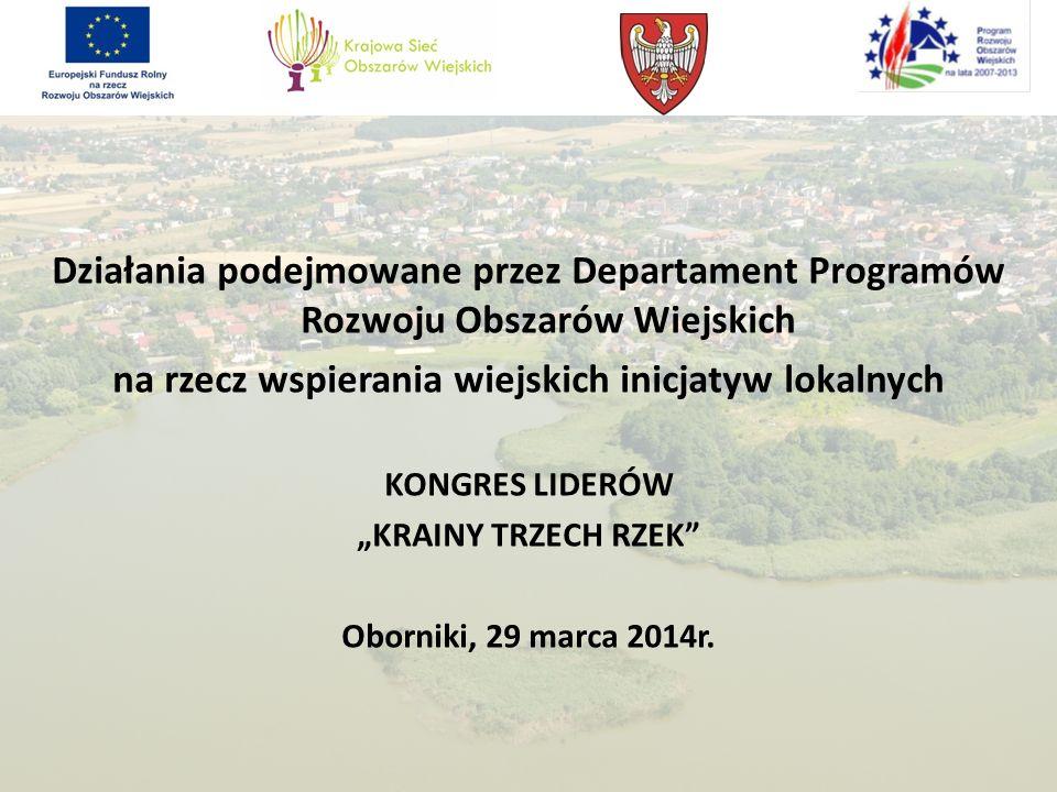 na rzecz wspierania wiejskich inicjatyw lokalnych