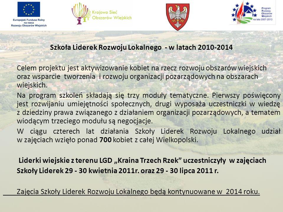Szkoła Liderek Rozwoju Lokalnego - w latach 2010-2014