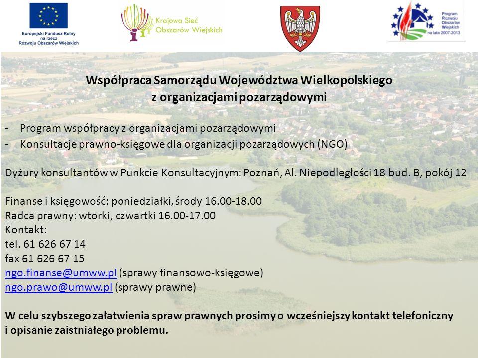 Współpraca Samorządu Województwa Wielkopolskiego