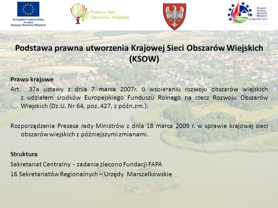 Podstawa prawna utworzenia Krajowej Sieci Obszarów Wiejskich (KSOW)