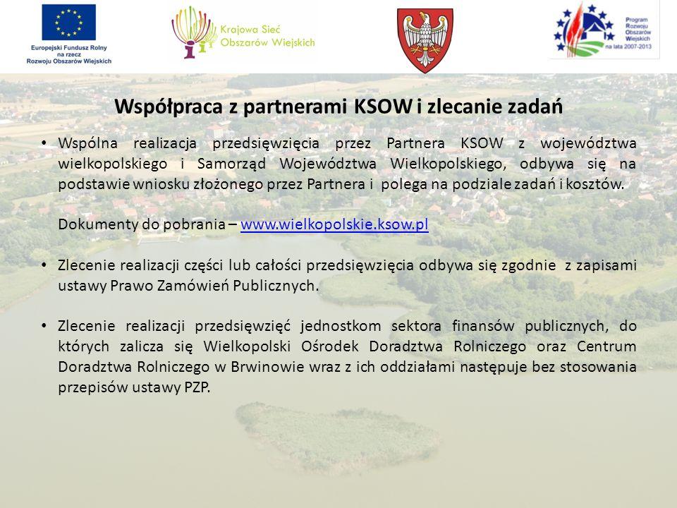 Współpraca z partnerami KSOW i zlecanie zadań