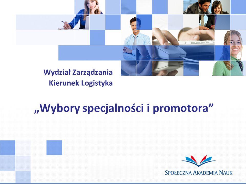"""""""Wybory specjalności i promotora"""