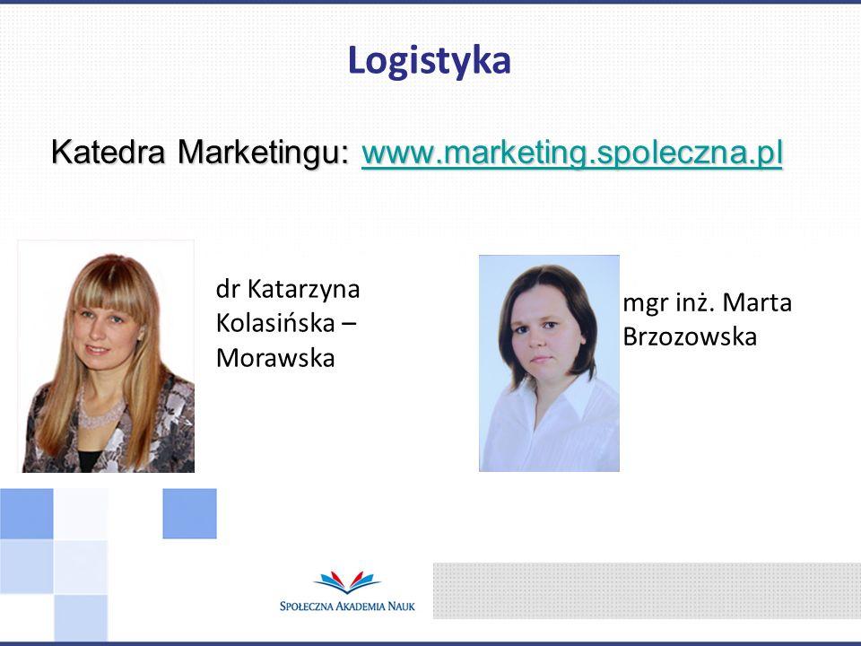 Logistyka Katedra Marketingu: www.marketing.spoleczna.pl
