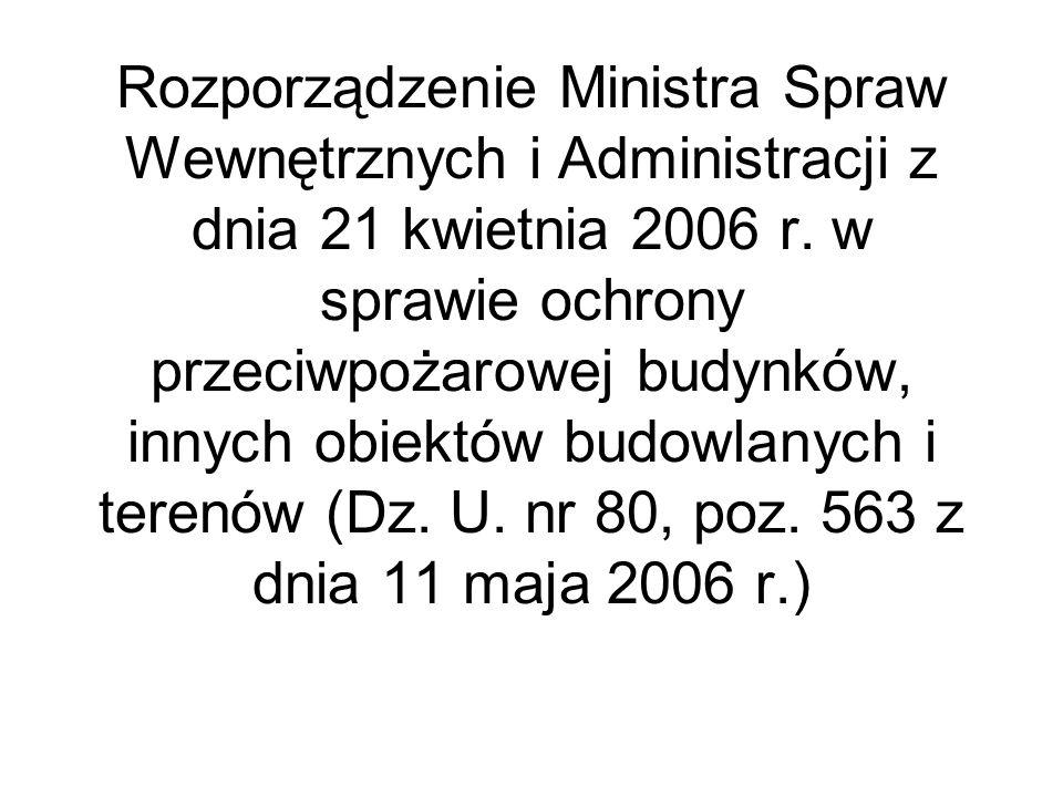 Rozporządzenie Ministra Spraw Wewnętrznych i Administracji z dnia 21 kwietnia 2006 r.