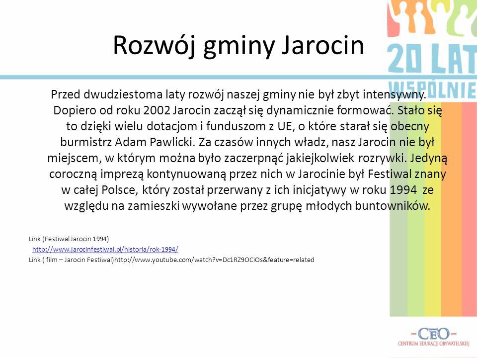 Rozwój gminy Jarocin
