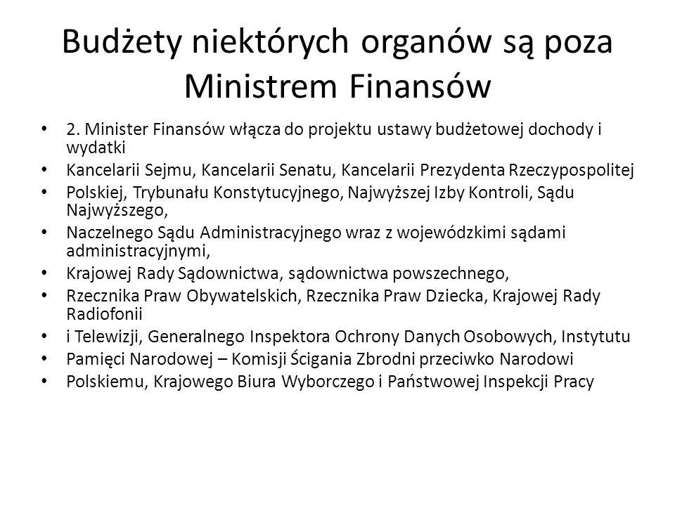 Budżety niektórych organów są poza Ministrem Finansów