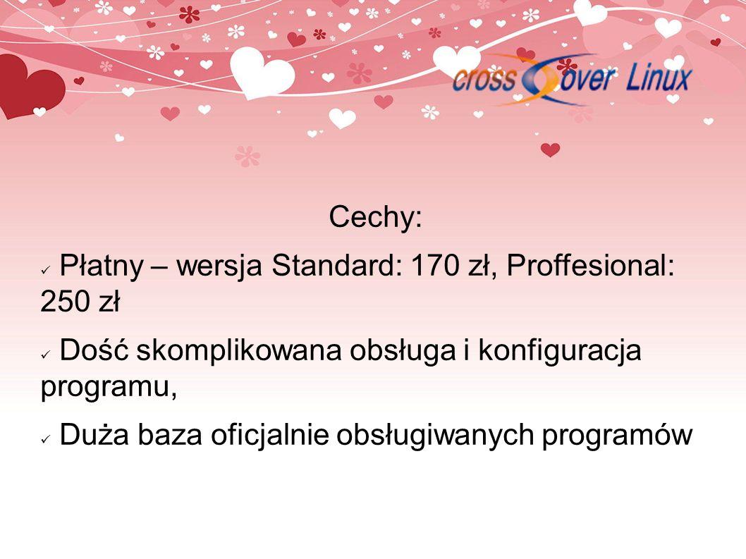 Cechy: Płatny – wersja Standard: 170 zł, Proffesional: 250 zł. Dość skomplikowana obsługa i konfiguracja programu,
