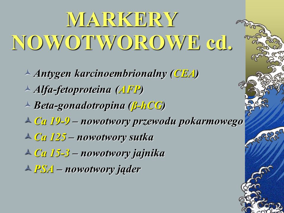 MARKERY NOWOTWOROWE cd.