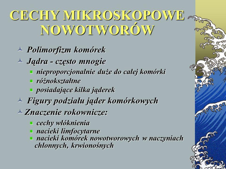 CECHY MIKROSKOPOWE NOWOTWORÓW