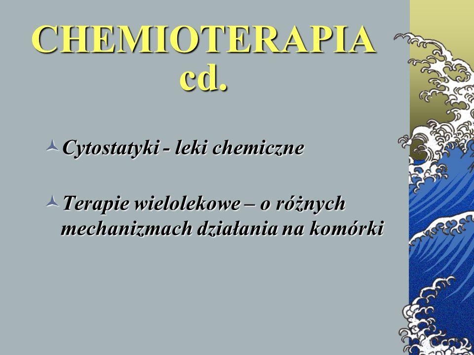 CHEMIOTERAPIA cd. Cytostatyki - leki chemiczne