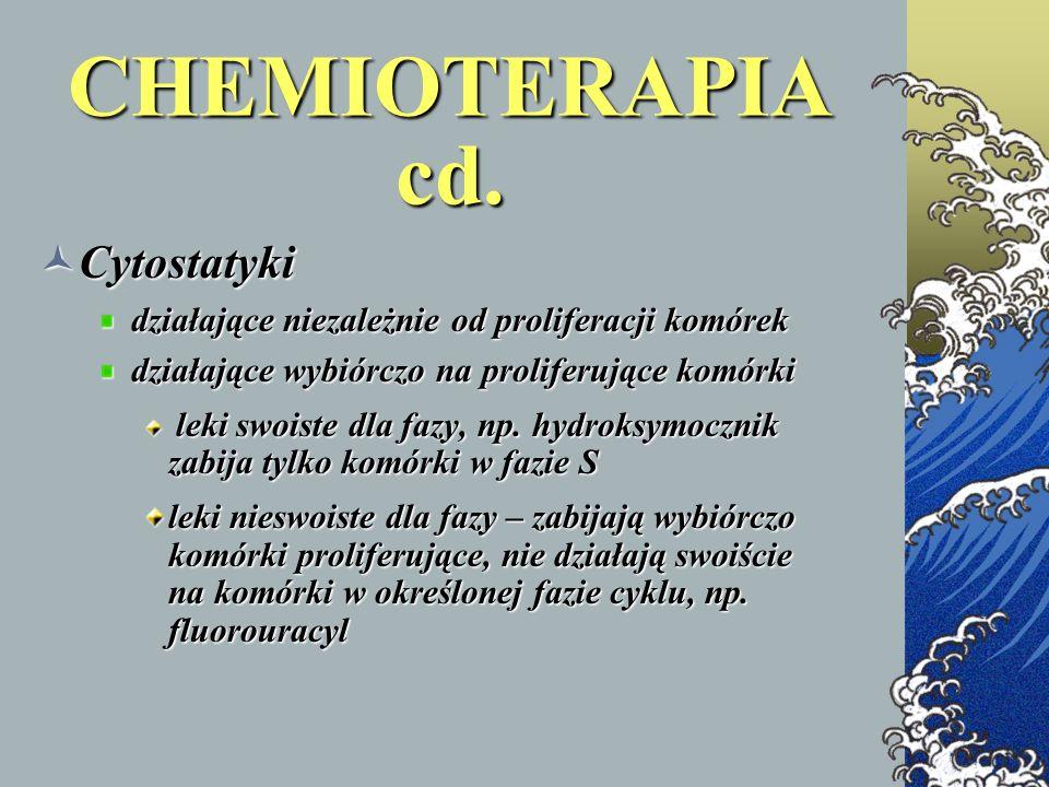CHEMIOTERAPIA cd. Cytostatyki