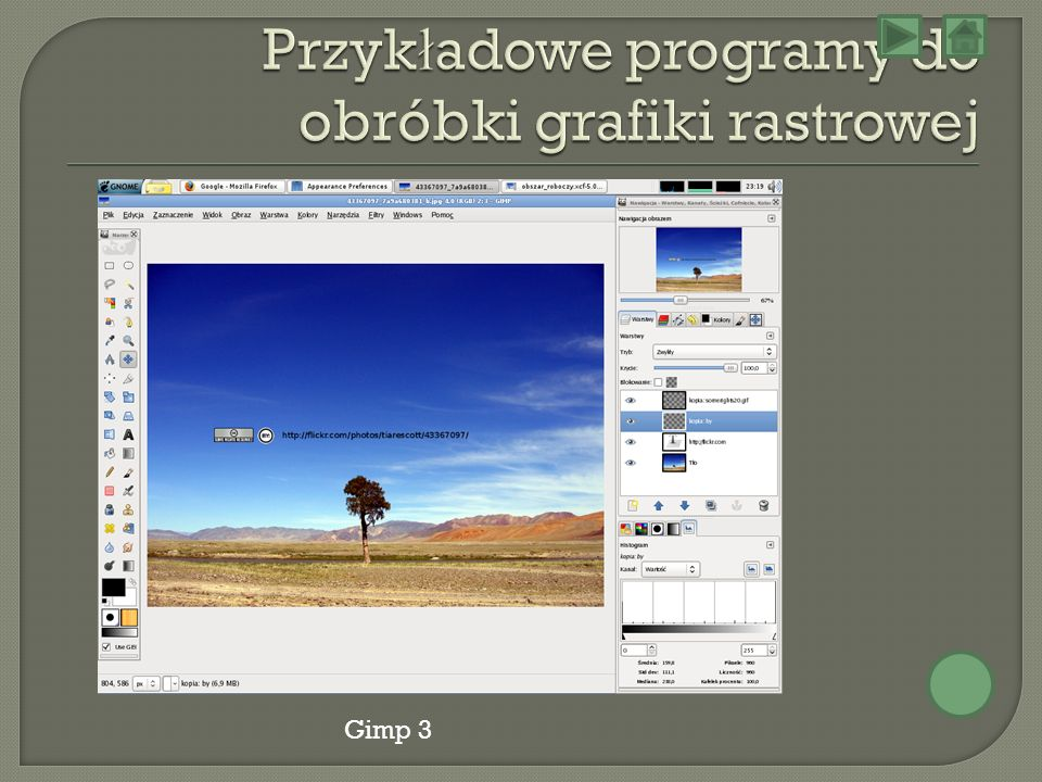Przykładowe programy do obróbki grafiki rastrowej
