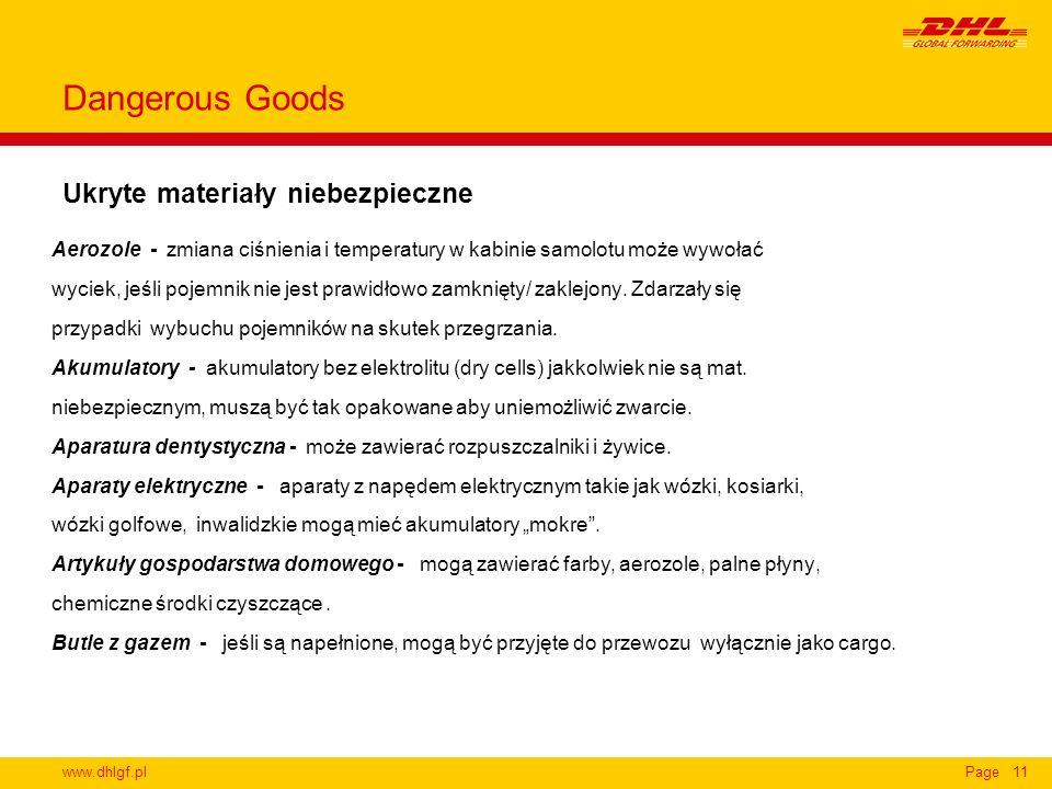 Dangerous Goods Ukryte materiały niebezpieczne