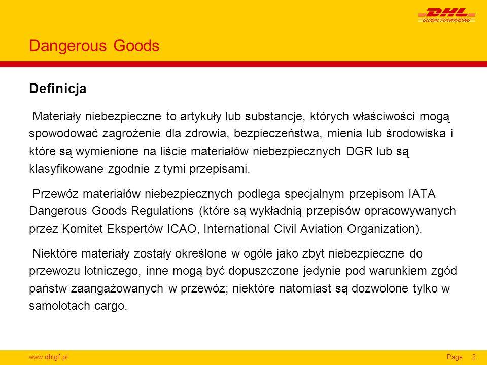 Dangerous Goods Definicja