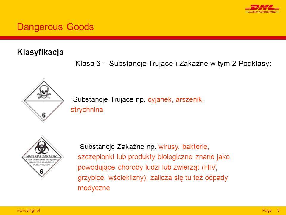 Dangerous Goods Klasyfikacja