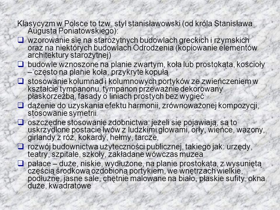 Klasycyzm w Polsce to tzw