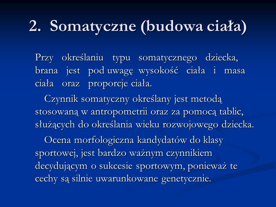 2. Somatyczne (budowa ciała)