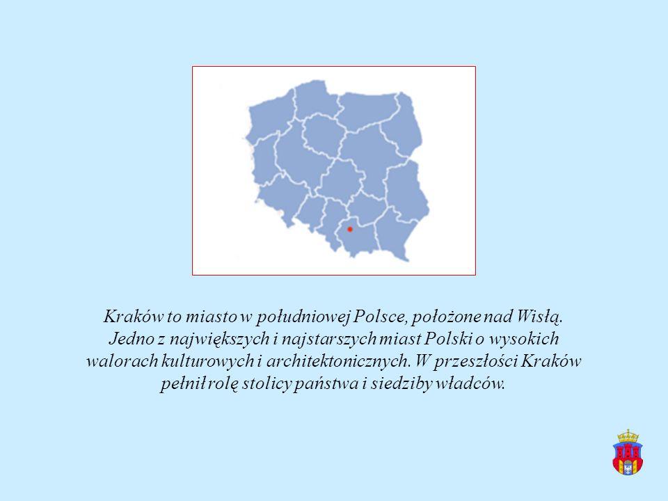 Kraków to miasto w południowej Polsce, położone nad Wisłą