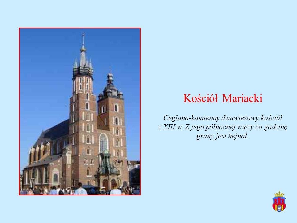Kościół Mariacki Ceglano-kamienny dwuwieżowy kościół z XIII w.