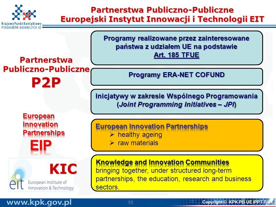 Partnerstwa Publiczno-Publiczne Europejski Instytut Innowacji i Technologii EIT